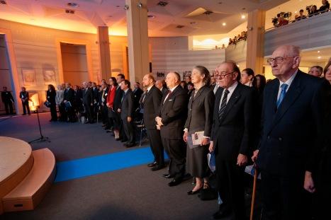 Cecilia MALMSTROM, Maros SEFCOVIC, Martin SCHULZ EP President, Mosche KANTOR, President of the European Jewish Congress